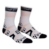 Oferta Final Temporada - Calcetines Ultratécnico Alto Compressport Pró Racing Socks V2 Bike - Cor Branca-Negro