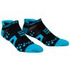 ÚLTIMAS TALHAS - Compressport Pró Racing Socks V2 Run Low Cut - Calcetines Ultratécnico Baixa - Cor Negra-Azul - Talha T1 (34-36 cm)