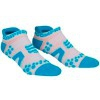Oferta Final Temporada - Compressport Pró Racing Socks V2 Run Low Cut - Calcetines Ultratécnico Baixa - Cor Branca-Azul
